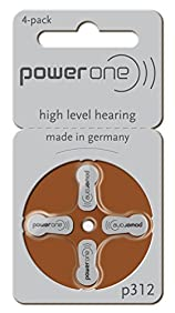 power one Size 312 Hearing Aid Batteries - 40 Battery Value Pack
