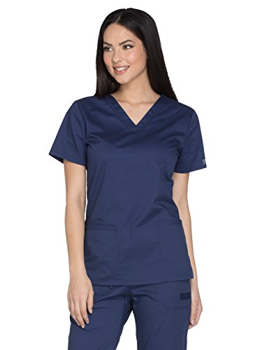 Cherokee Workwear Core Stretch WW630 V-Neck Top Navy - Scrub Blue Navy Top