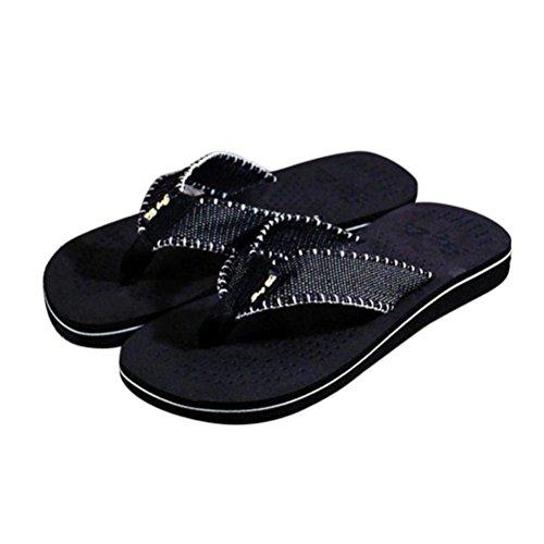 Chanclas Sandalias Zapatillas, FAMILIZO Zapatos Los hombres de verano flip flops zapatos sandalias Zapatillas masculinas Flip-flop Negro
