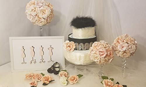 The Ava Little Black Dress Diaper Cake inspired by Chanel