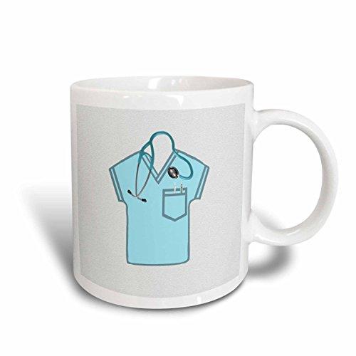3dRose-Beverly-Turner-Doctor-or-Nurse-Design-Aqua-Green-Scrub-Top-Stethoscope-Thermometer-and-Syringe-Mugs