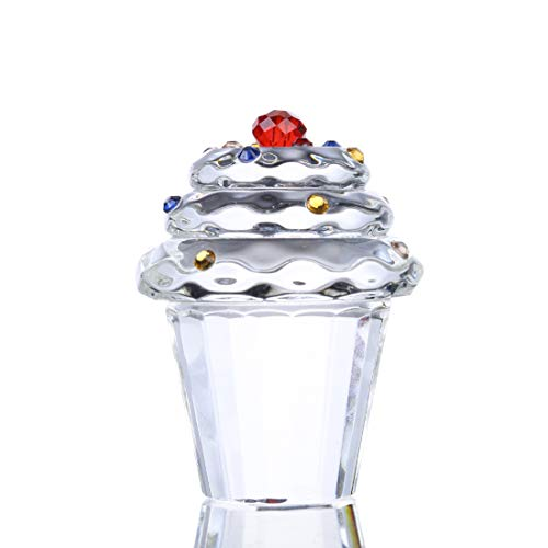 H&D HYALINE & DORA Crystal Cupcake Paperweight Home Table Decor