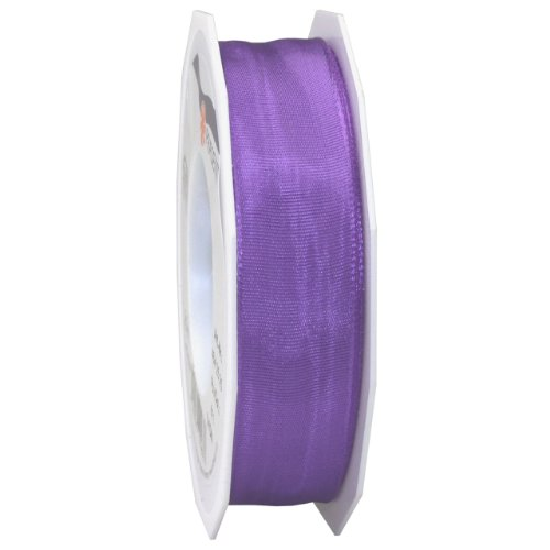 Morex Ribbon French Wired Lyon Ribbon, 1-Inch by 27-Yard Spool, Lilac