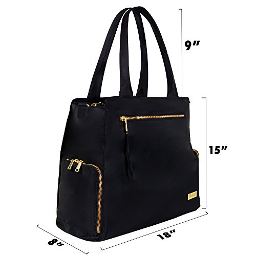 The New Yorker Breast Pump Bag by Charlie G, Black/Gold (Large) by Charlie G Bags (Image #2)