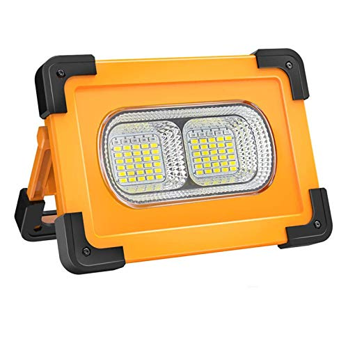 WOERD LED Arbeitsstrahler, Baustrahler Solar Tragbare, LED USB Arbeitslicht mit 4 Lichtmodi 2200mAh Powerbank Outdoor…