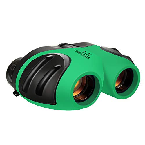 Christmas Halloween Gifts for Boys Age 3-12, DIMY Binoculars for Children Kids Popular Best Top Hot Fun Toys for 3-12 Year Old Boys Green DL01