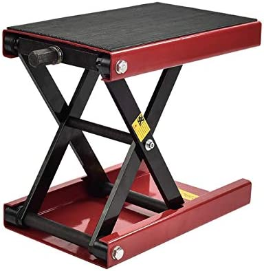 Lift Jack,1100lbs Motorcycle Stand Adjustable Lifting Kickstand Table Hoist for Workshop