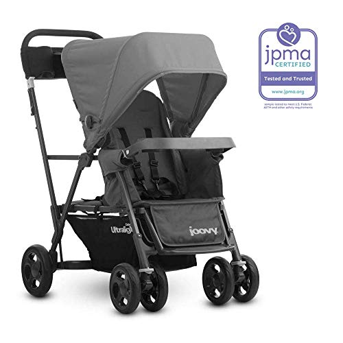 JOOVY Caboose Ultralight Graphite Stroller, Gray (Sit And Stand Double Stroller With Car Seat)