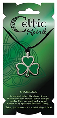 Shamrock Gift Co Celtic Spirit Pendant-Shamrock Green