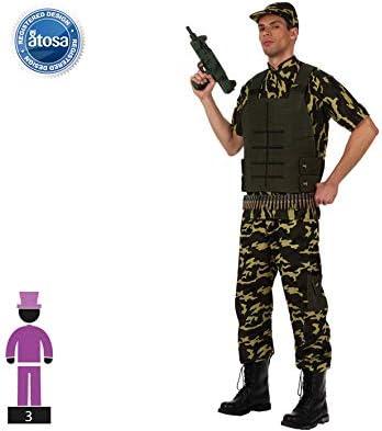 Atosa 10306 Disfraz Militar XL Hombre Verde, color: Amazon.es ...