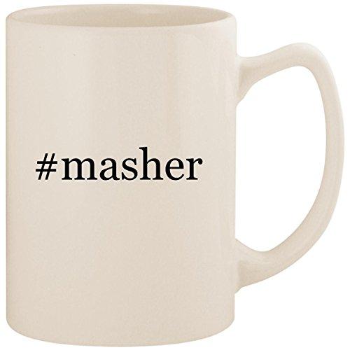 Masher Egg Mashy (#masher - White Hashtag 14oz Ceramic Statesman Coffee Mug Cup)