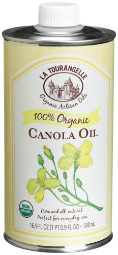 La Tourangelle Organic Canola Oil, 16.9-Ounce Tins (Pack of 6)