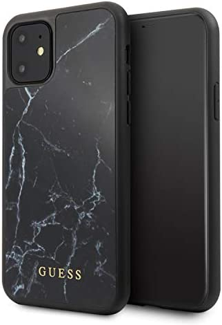 Guess Hülle Aus Der Marmorsammlung Guhcn61hymabk Für Das Iphone 11 Schwarz Elektronik