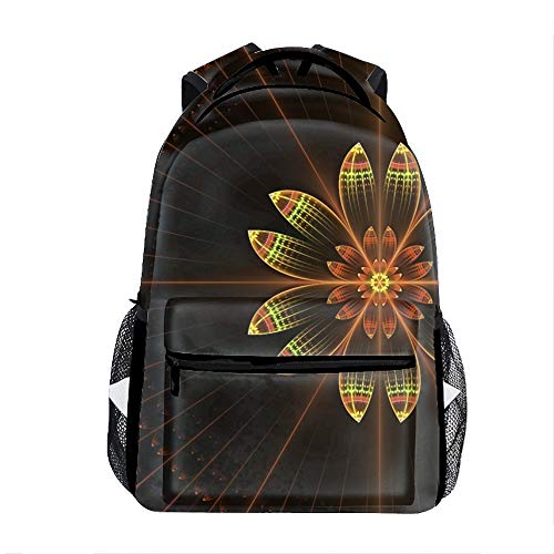 Fractal Floral Kids Backpack School Book Bag for Toddler Boys -