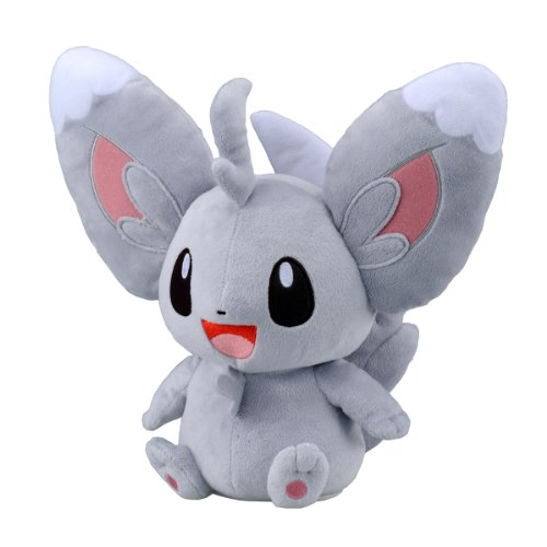 "Takaratomy Pokemon Best Wishes Voice and Motion Activated Talking Plush - 11"" Chillarmy/Minccino"