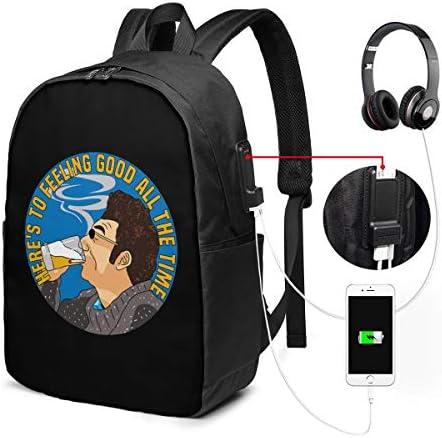 ビジネスリュック サインフェルド メンズバックパック 手提げ リュック バックパックリュック 通勤 出張 大容量 イヤホンポート USB充電ポート付き 防水 PC収納 通勤 出張 旅行 通学 男女兼用