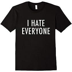 Mens I Hate Everyone T-Shirt - Anti-social Shirt XL Black