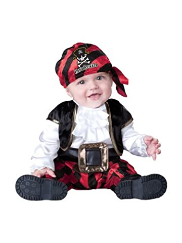 InCharacter Costumes Baby's Cap'N Stinker Pirate Costume, Black/White/Red, Small