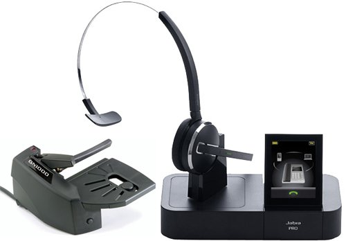 Jabra PRO 9470 Mono Wireless Headset with GN1000 Remote Handset Lifter ()
