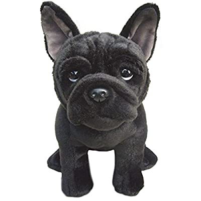 French Black Bulldog -30 cm Amazing Realistic Soft Plush Toy- Collectible Toy: Toys & Games