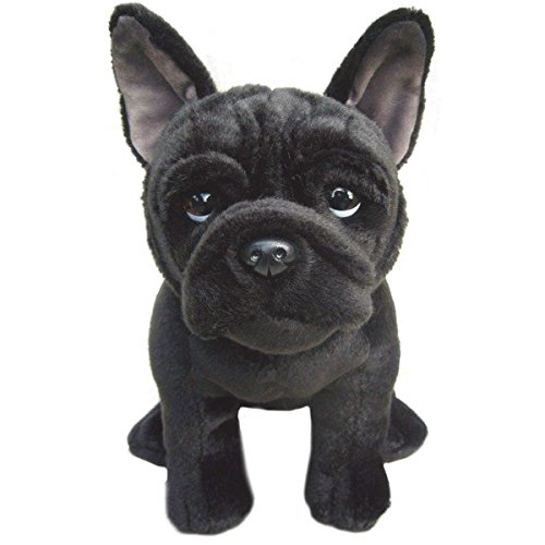 French Black Bulldog -30 cm Amazing Realistic Soft Plush Toy- Collectible Toy (Stuffed Animal Bulldog French)