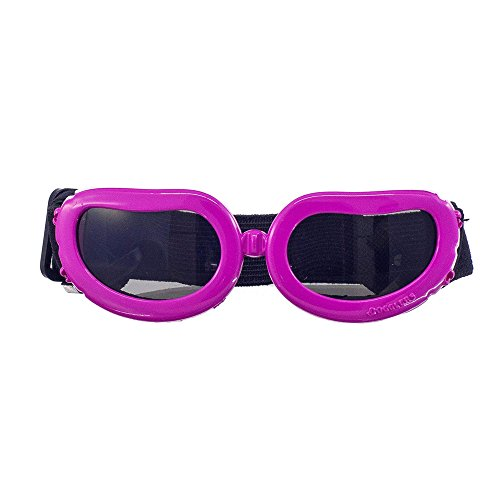 OxyPlay Adorable Cute Dog Goggles Extra Small Pink Anti-ultraviolet Sunglasses for Chihuahua Small Breeds Pet (Pink)