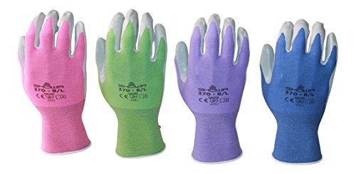 Atlas 370 Garden Glove 4 Pack (Medium, purple pink periwi...