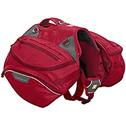 Ruffwear - Palisades Multi-Day Backcountry Pack for Dogs, Red Currant, Medium