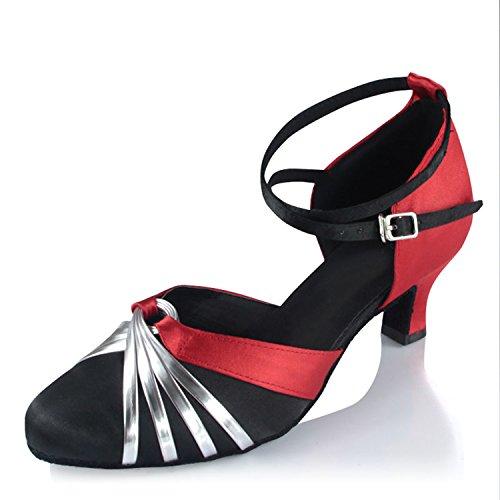 Zapatos de de de Baile Samba Tira Jazz Onecolor Baile Zapatos de Baile Tobillo de Verano Zapatos Latino Zapatos Sandalias Adultos Cuero Latino de BYLE Modern 8qxCwpvnP