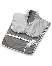 medisana HP 630 verwarmingsmuts voor hals, schouder en rug, elektrisch, verwarmende poncho met 4 temperatuurstanden, oververhittingsbescherming, automatische uitschakeling, wasbaar