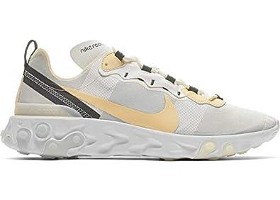 mejores zapatillas de deporte tienda en línea varios colores Amazon.com | Nike React Element 55, Pale Vanilla, Mens ...