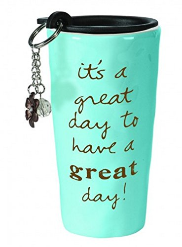 C.R. Gibson Double Wall Travel Cup and Key Chain Gift Set, Great Day