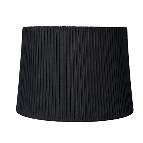 Urbanest Faux Silk Box Pleated Drum Lampshade, 10x12x8.5