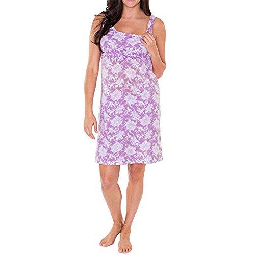 ALIKEEY Las Mujeres Vestido De Estampado Floral De Embarazo Maternidad Ropa Sin Mangas Sundress Negocios Trabajo Reflectante Amarilla Visibilidad: ...