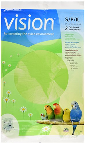 Vision Bird Cage Paper, Small 17-Inch by 13-Inch