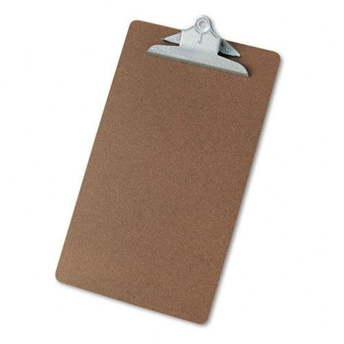 Skilcraft Masonite Clipboard, Brown, Legal Size 9 x 15.5 Inch with Quality Metal Clip #4610