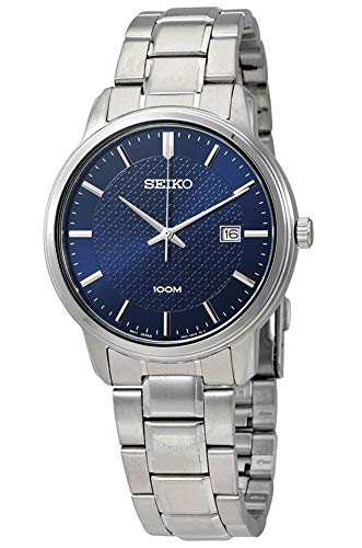 (Seiko Mens Analogue Quartz Watch with Stainless Steel Strap SUR193P1)