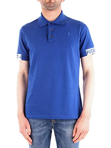 Cesare Paciotti 4Us Men's Ta1208royal Blue Cotton Polo Shirt