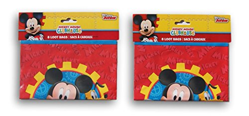Party Supply - Mickey Mouse and Pluto - 16 Party Favor Bags]()