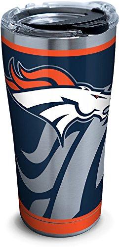 Tervis 1299931 NFL Denver Broncos Rush Stainless Steel Tumbler, 20 oz, Silver Denver Broncos Travel Mug
