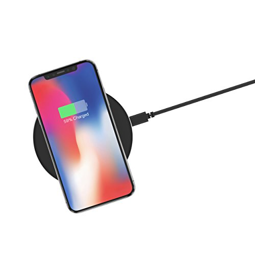 Just Qi Wireless Charger 5W/1A Certified Phone - Apple iPhone XS XR, X, Plus Android Black
