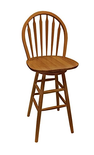 (The Furniture Cove 1 - Custom Counter Height Oak Finish Swivel Seat Arrow Back Bar Stool - Choose from 24