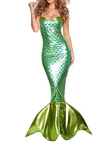 XSHUN Adult Mermaid Costumes Women Halloween Paty Cosplay Sexy Mermaid Costume