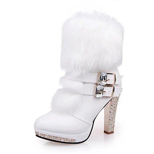 botas mujer otoño botas tubo Medio y Thirty invierno alto el Donyyyy y medio el de five super Martin tacón de zapatos pZUIqxw