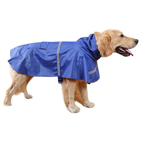 Dog Raincoat Waterproof Clothes for Small Medium Large Dogs,Pet Lightweight Rain Jacket Poncho with Reflective Strip by Riveroy