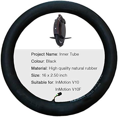 MAQLKC Pneus Gyroroue Électrique Pneu Roue pour Inmotion V10/V10F Chambres à Air pour Trotinette Monoroue Électrique Accessoires Noir