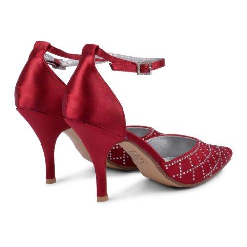 Footwear Sensation - Sandalias de vestir de sintético para mujer rojo - Burgundy