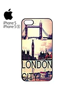 London City Big Ben Tower Brigde Mobile Cell Phone Case Cover iPhone 5&5s Black