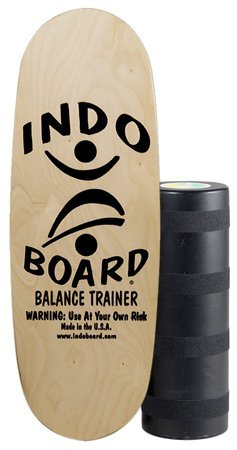INDO BOARD Pro Balance Board for Riders over 6 Feet Tall or Surfers That Want to Learn to Cross Step - Perfect for Surf, Snowboard or Wakesurfing Training - Natural Wood Color -