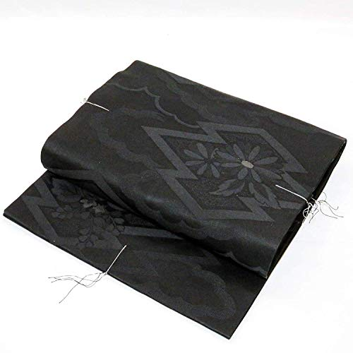 Nagoya OBI: Belt for Kimonos Black Flower Design Japan for sale  Delivered anywhere in USA